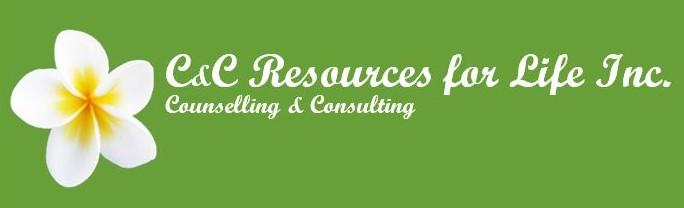C&C Resources for life logo with frangipani
